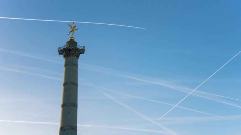 Columna de la Bastilla con <a href=