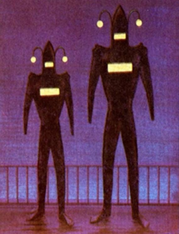 Encuentros extraños con humanoides extravagantes en trajes voladores