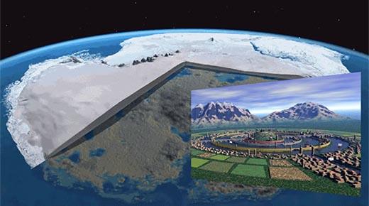 La evidencia de que la antigua ciudad perdida bajo el hielo antártico todavía existe!