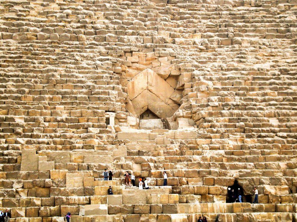 Las entradas a la Gran Pirámide. Shutterstock