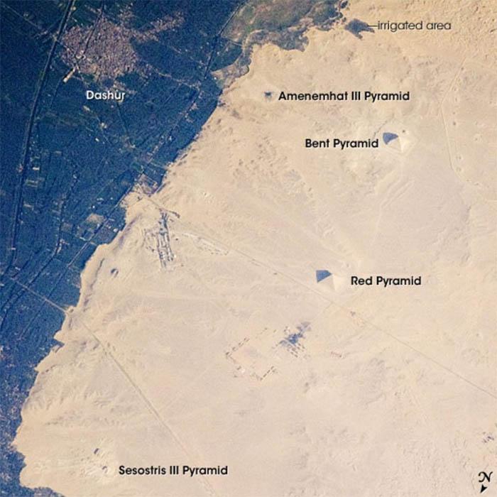 13 fotografías aéreas insólitas de las antiguas pirámides de Egipto