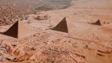 13 fotografías aéreas insólitas de las antiguas pirámides de Egipto.