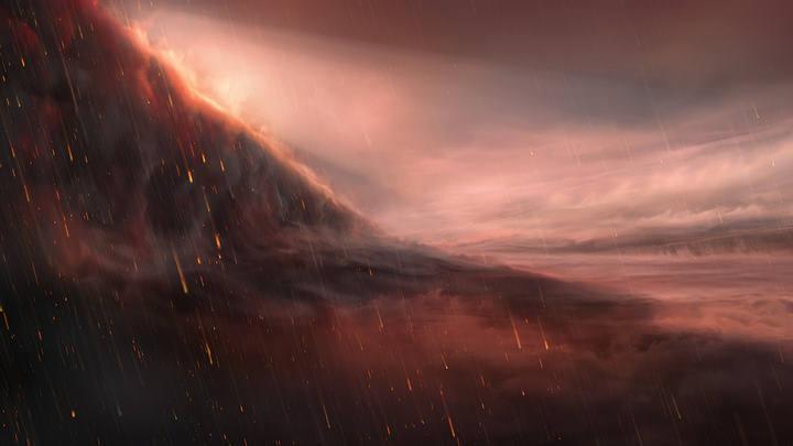 Astrónomos hallan un planeta infernal donde llueve hierro