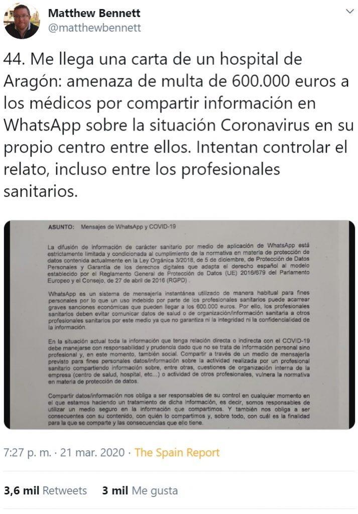 CIRCULAR DEL MINISTERIO DE SALUD ESPAÑOL RECONOCIÓ QUE EL NOMBRE CIENTÍFICO DEL AGENTE PATÓGENO ES SARS CoV-2; es un derivado del SARS