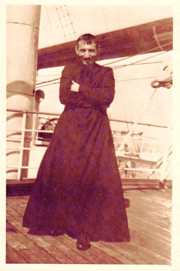 Temprana fotografía de Carlos Crespi, retratado en 1926