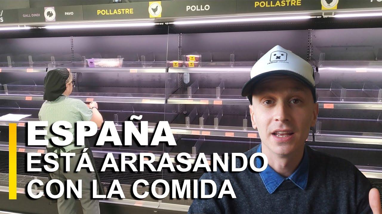 Los Españoles están arrasando con la comida ¿QUE PASARÁ?
