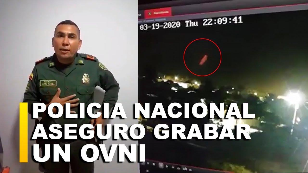 POLICIA DE COLOMBIA NO DA CRÉDITO AL FILMAR UN OVNI