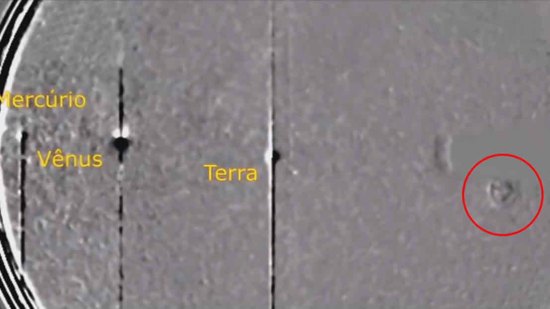 Sonda SOHO capta colosal «nave extraterrestre» viajando por el Sistema Solar, asevera investigador.