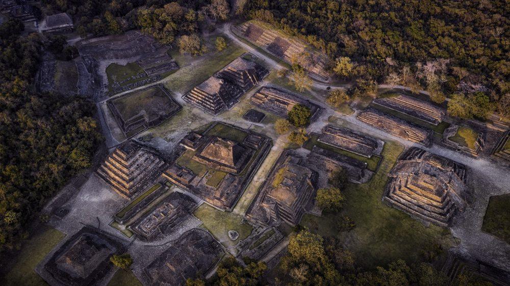 Una vista aérea de la antigua ciudad de El Tajin. Shutterstock