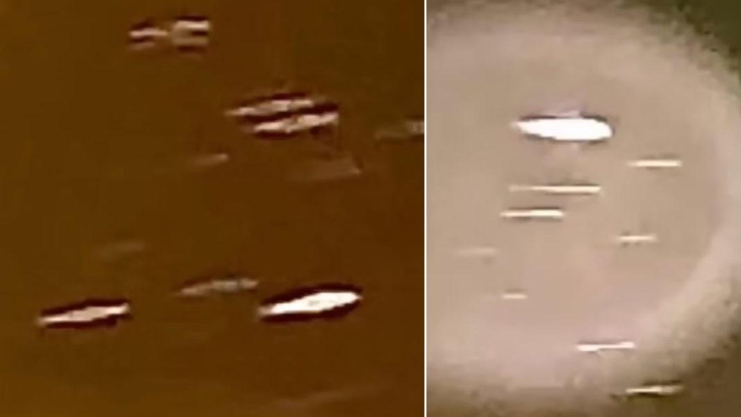 Declarante capta una flota de posibles «naves desconocidas» en el firmamento (Vídeo).
