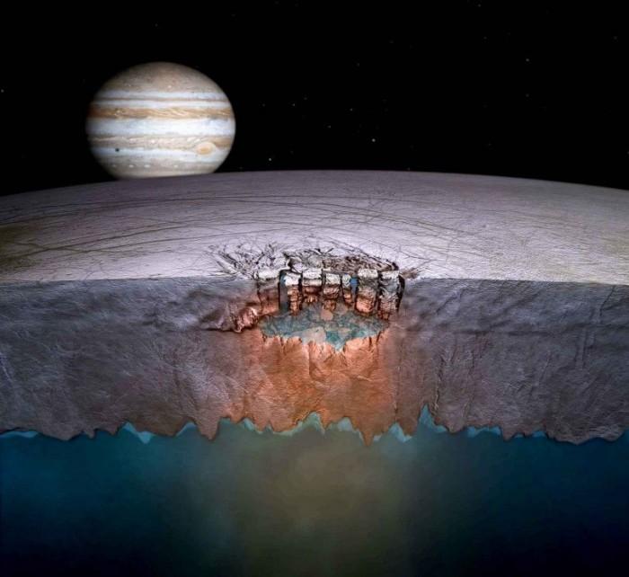 Extraterrestres en Júpiter: bajo el caparazón helado de Europa es posible encontrar formas de vida superiores