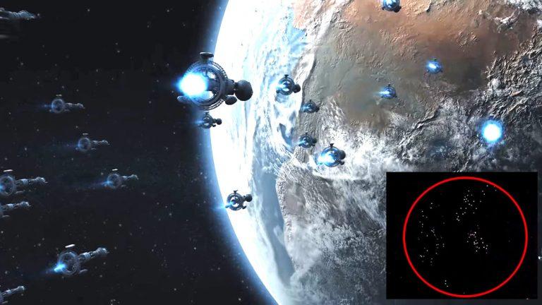 Flota de centenares de OVNIs «en dirección a la Tierra» es captada desde la Estación Espacial Internacional (Vídeo)