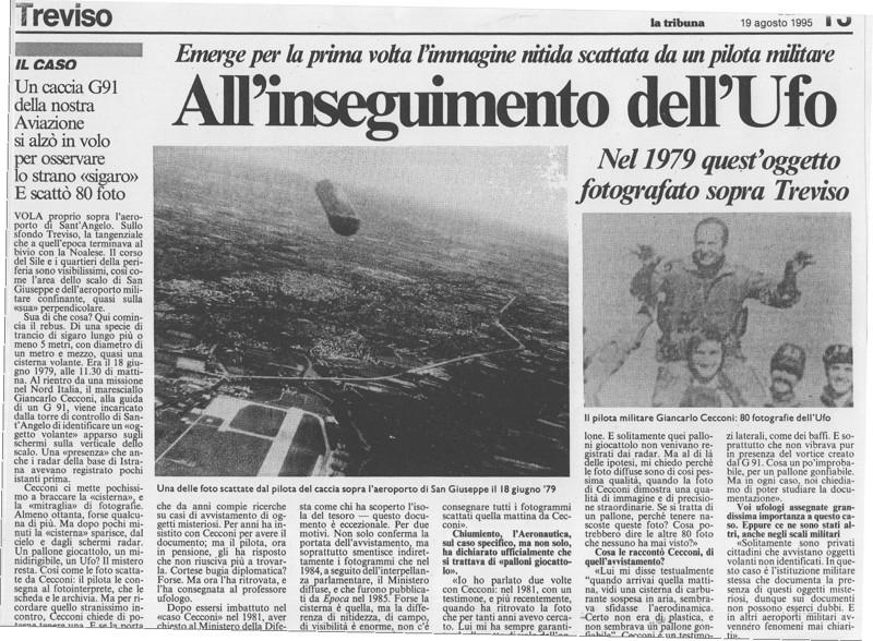 Piloto militar captó con su camara un «OVNI cigarro» sobre Italia a escasos metros de separación