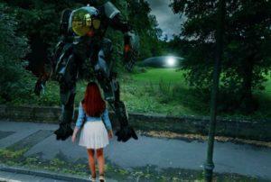 Un Extraño Caso De Un Robot gigante