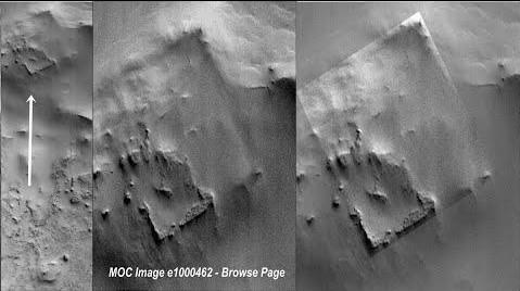 """La NASA descubre un """"Sitio Arqueológico"""" en Marte gracias a las fotografías de la sonda MGS"""