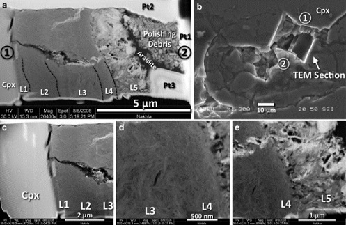 """Misteriosa """"estructura biológica"""" encontrada en el meteorito marciano """"Nakhla"""""""