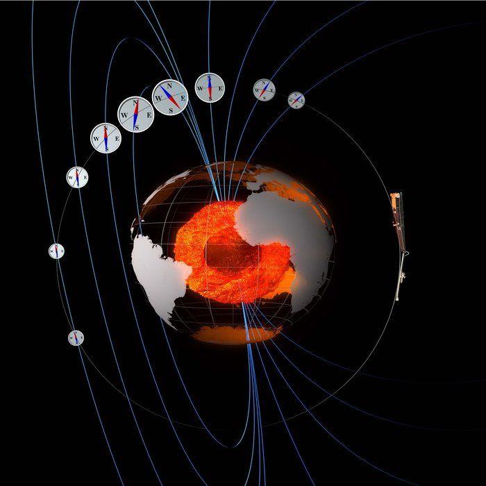 Norte magnético de la Tierra estaría desplazándose debido a enigmaticas «masas» subterráneas