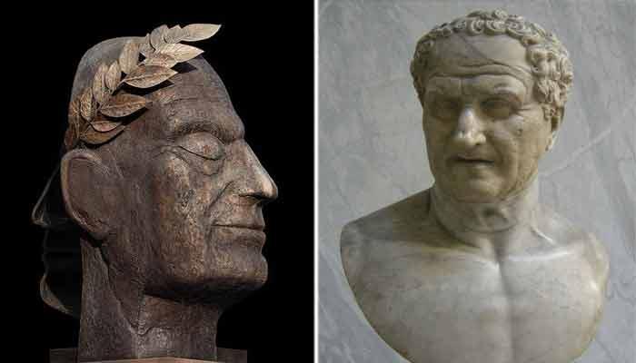 Julio César y Aulo Postimio