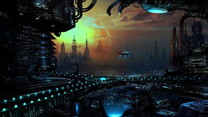 Luces extraterrestres de la ciudad
