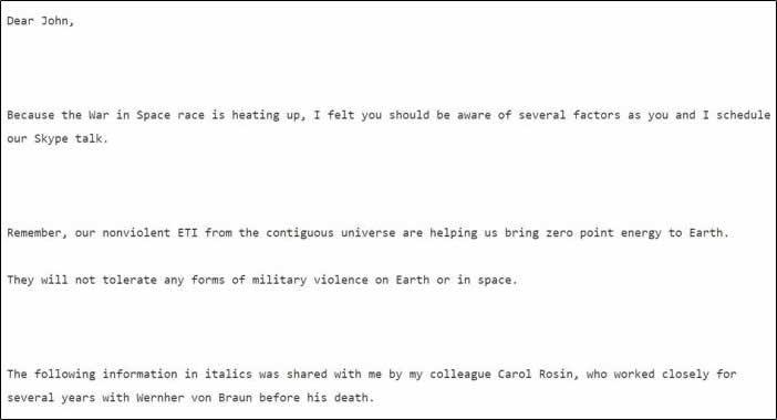 Documentos de Wikileaks insinúan que Wernher Von Braun habría intentado advertirnos sobre una falsa invasión extraterrestre (VÍDEO).