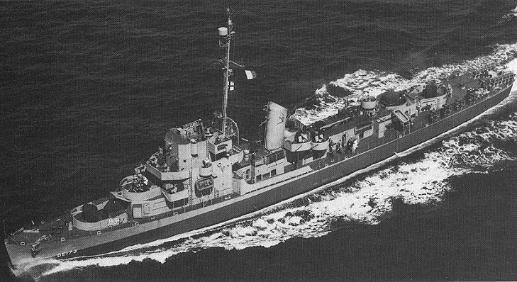 El barco de guerra USS Eldridge DE-173, 1944