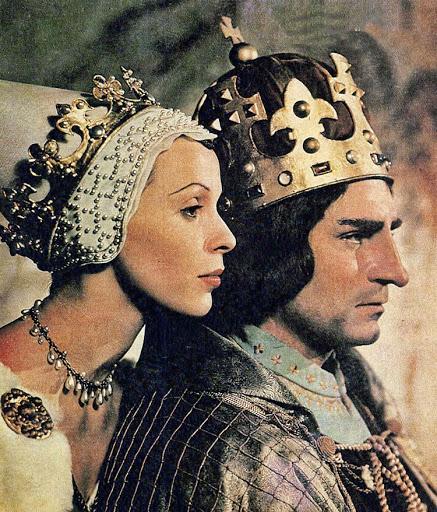 El famoso actor inglés Laurence Olivier representando al rey Macbeth.