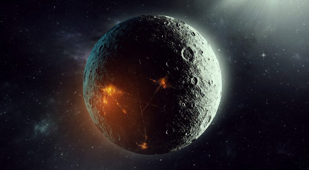 Representación artística de un planeta colonizado por seres alienígenas inteligentes. Shutterstock