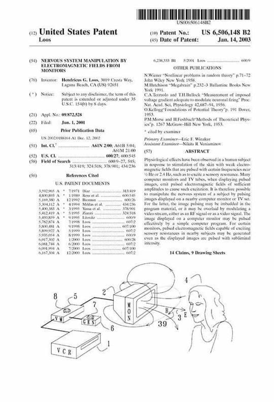 La Patente «US 6506148 B2» ¿Control Mental por medio del Televisor? (VÍDEO).
