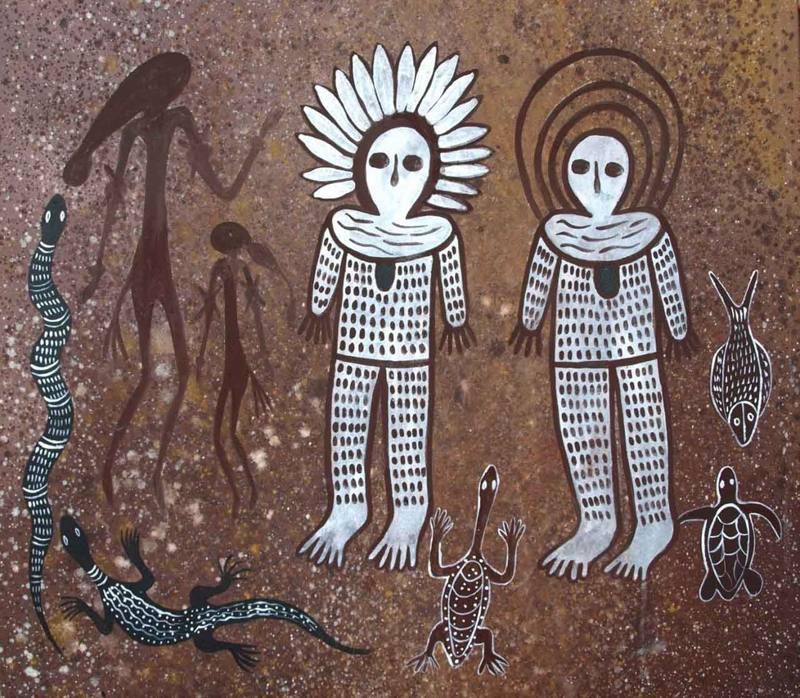 Wandjinas y la simbología de la Serpiente: entes que bajaron a la Tierra en tiempos muy viejos.