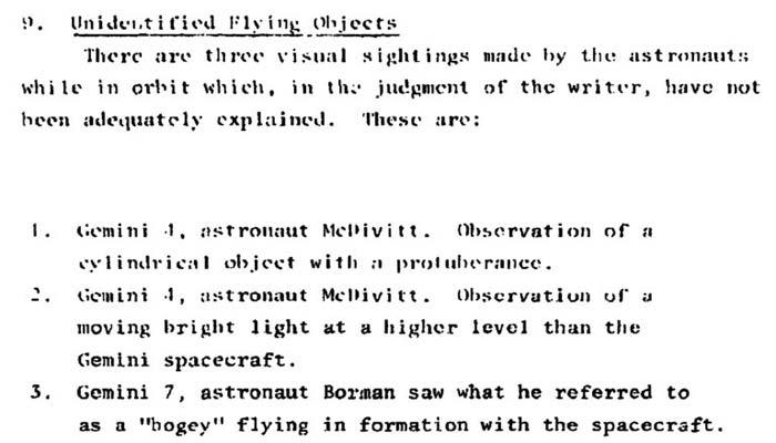 Avistamientos de OVNIs de astronautas son misteriosamente eliminados del estudio de OVNIs del gobierno