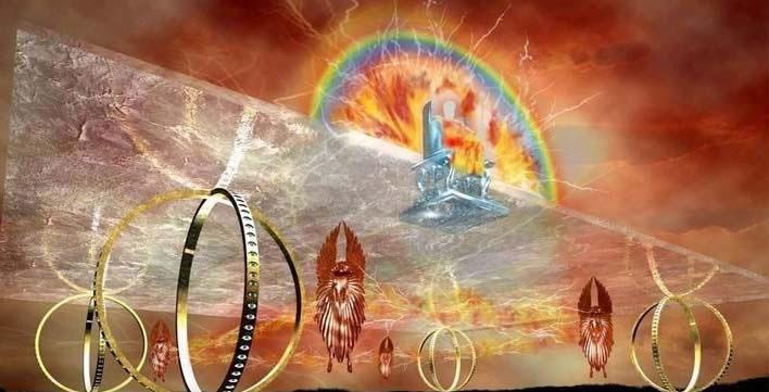 El carro de fuego de Ezequiel: La «nave» celestial de Yahvé con ruedas metálicas