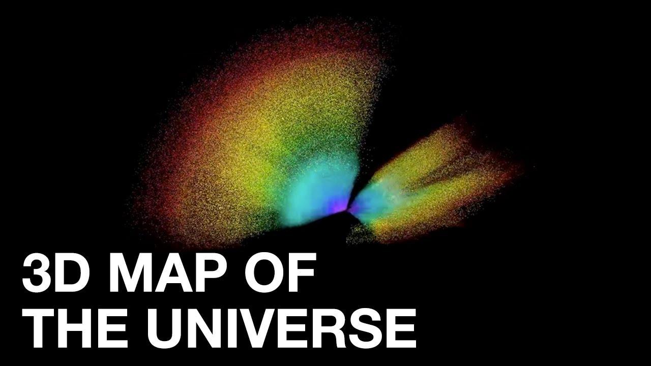 Este es el mapa más grande del universo y completa 11 mil millones de años de historia del universo.