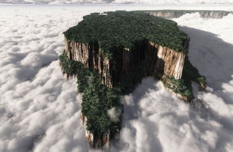 Roraima, el misterioso monte que sobresale entre las nubes.