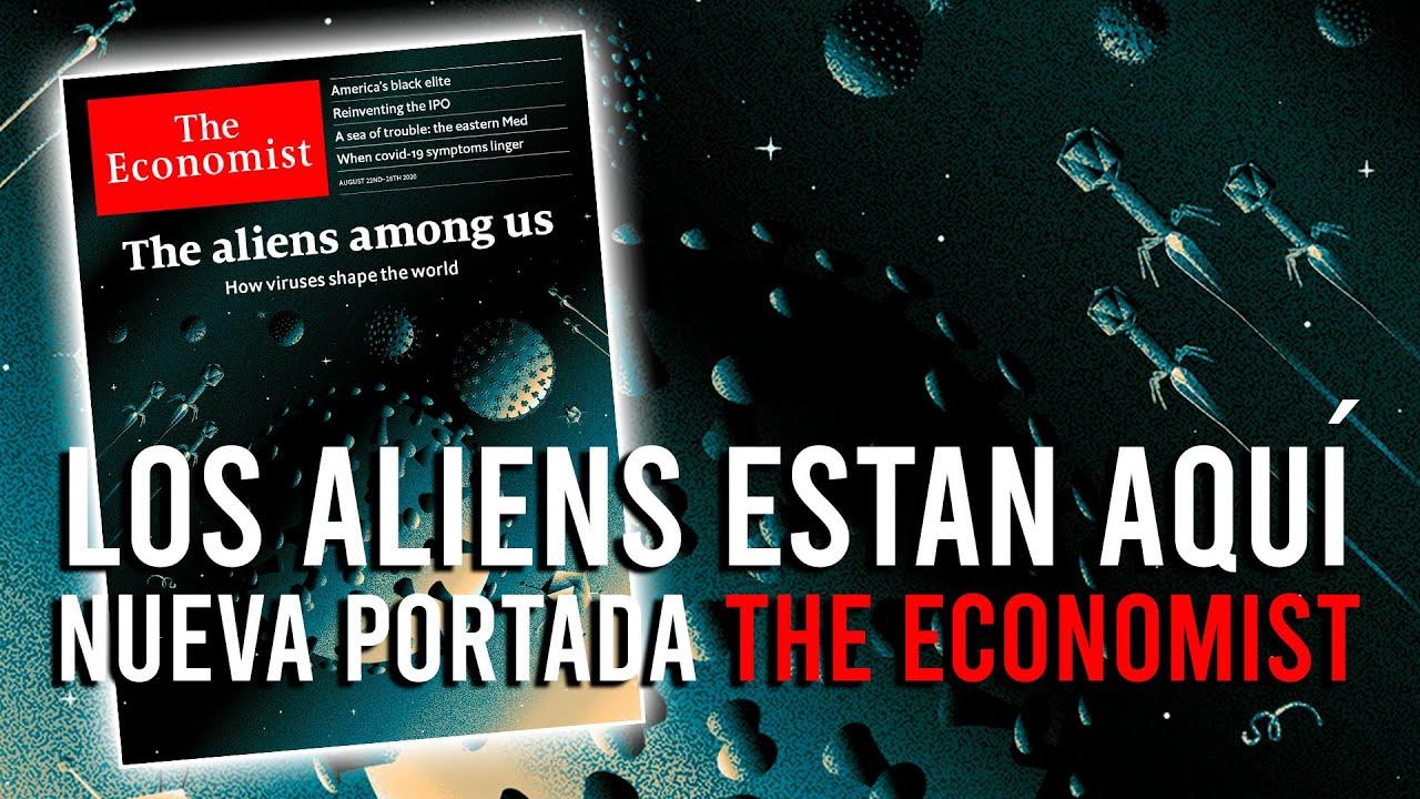 ATENCIÓN: La Élite confirma que «YA ESTÁN ENTRE NOSOTROS» nueva portada Agosto The Economist