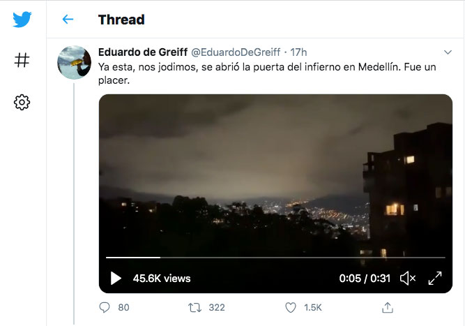 Denuncian raro sonido en firmamento de Medellín (Colombia) que provendría de «algo invisible»