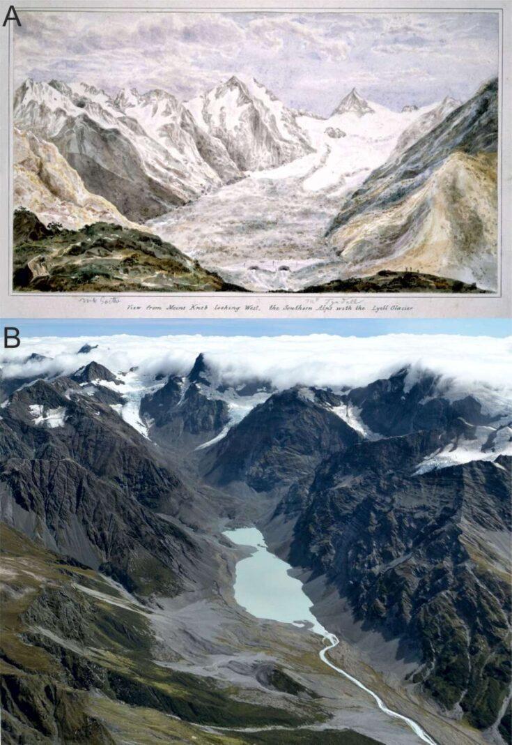 Glaciares de Nueva Zelanda se están derritiendo el doble de rápido que en la era preindustrial