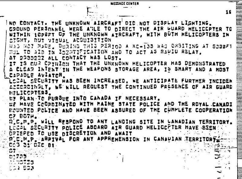La noche en que una base militar de EE.UU. fue visitada por varios «No Identificados».