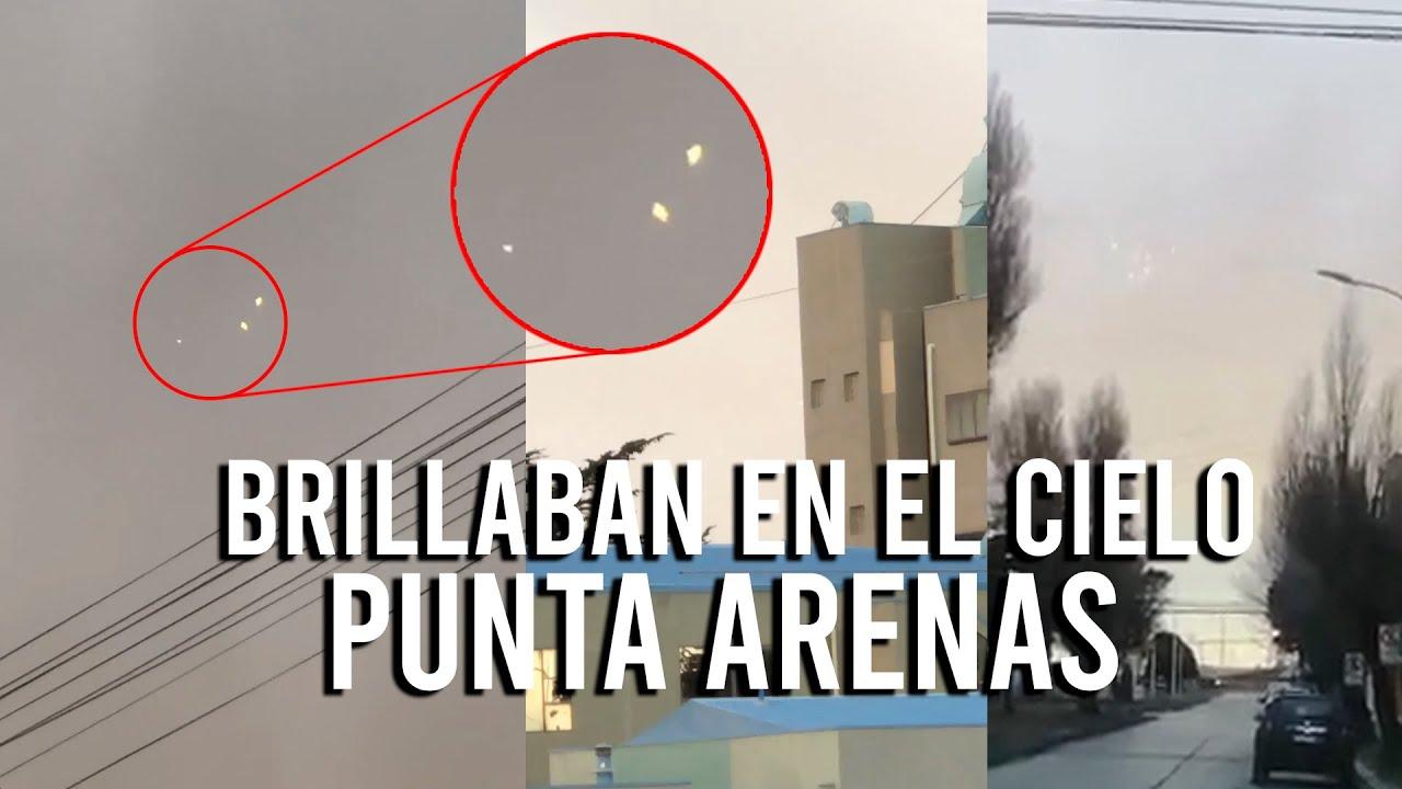 MÚLTIPLES OBJETOS BRILLABAN EN EL CIELO (PUNTA ARENAS CHILE)
