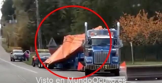Aparente Nave «No Identificada» transportada en camión es grabada por declarante (VÍDEO)