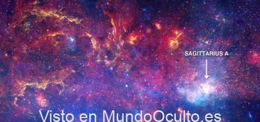 Imagen del centro de la galaxia sonorizada por la NASA
