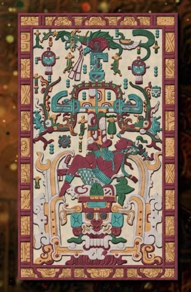 El extraño párpado del sarcófago del rey maya Pacal