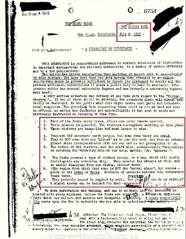 fbi extraterrestres gigantes informe - El FBI confirma la existencia de extraterrestres gigantes con apariencia humana en un informe desclasificado de 1947