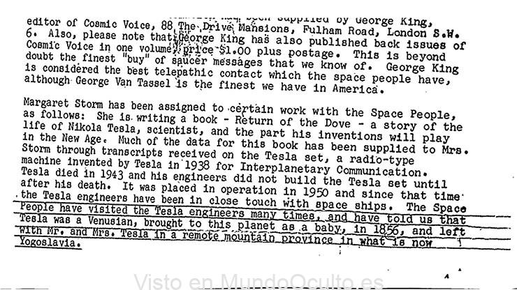 Nuevo documento desclasificado del FBI afirma que Nikola Tesla era un extraterrestre de Venus