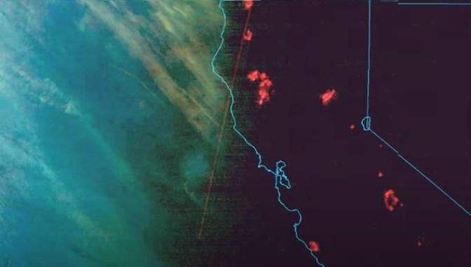 ¿Se detectan armas de energía dirigidas frente a la costa de California?