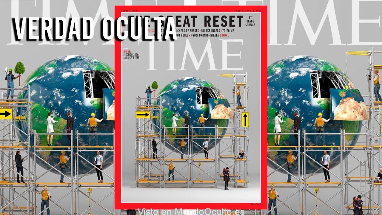 BOMBAZO Nueva Portada Revista TIME muestra el GRAN REINICIO DEL MUNDO