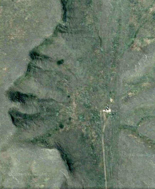Imagen vía satélite del «Guardián de las Badlands» de Canadá