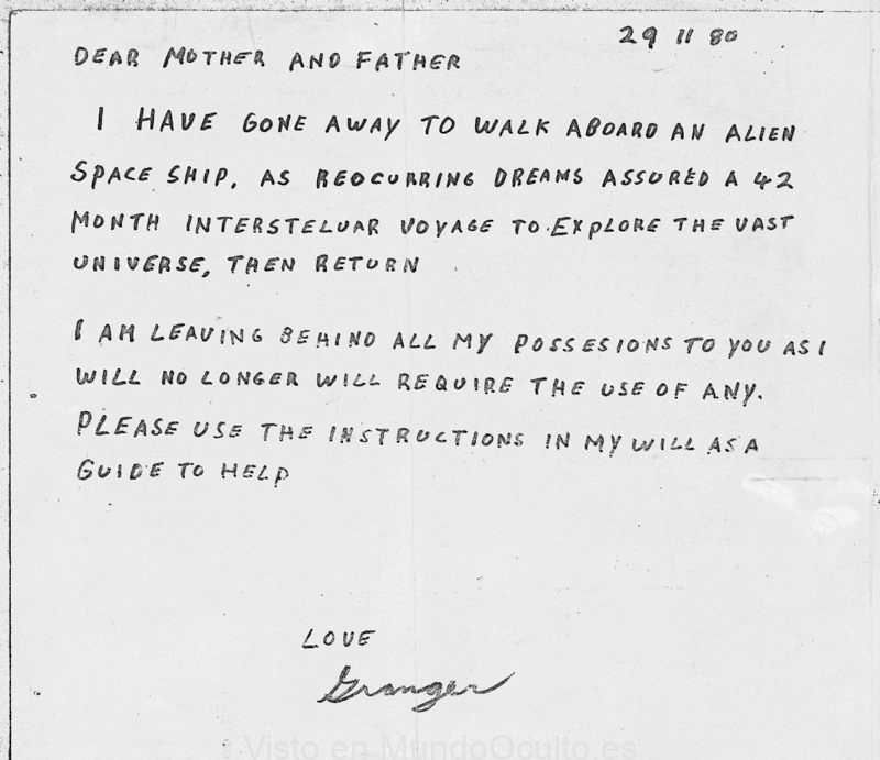 Granger Taylor: el «contactado» que fue llevado al cosmos y se esfumó sin dejar rastro