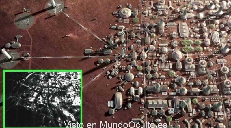 Imágenes de satélite muestran una base humana en la superficie de Marte