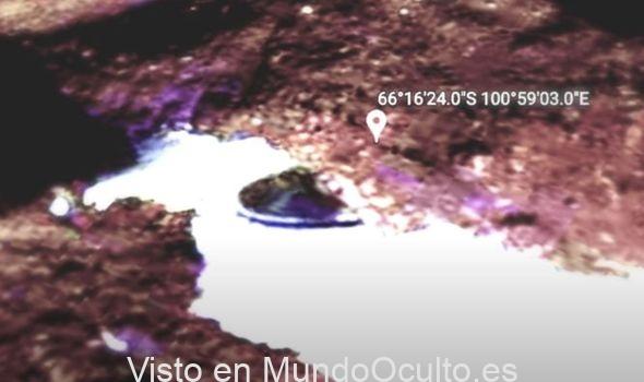 Misterio de la Antártida: el derretimiento del hielo descubre un 'objeto antiguo' en Google Maps