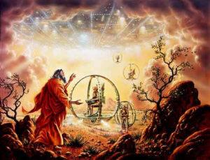 El propio Yahveh iba dentro de esa columna de nube